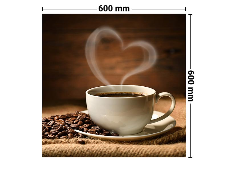 Spritzschutz Glas | Motiv Kaffee | 60x60 cm | wall2art