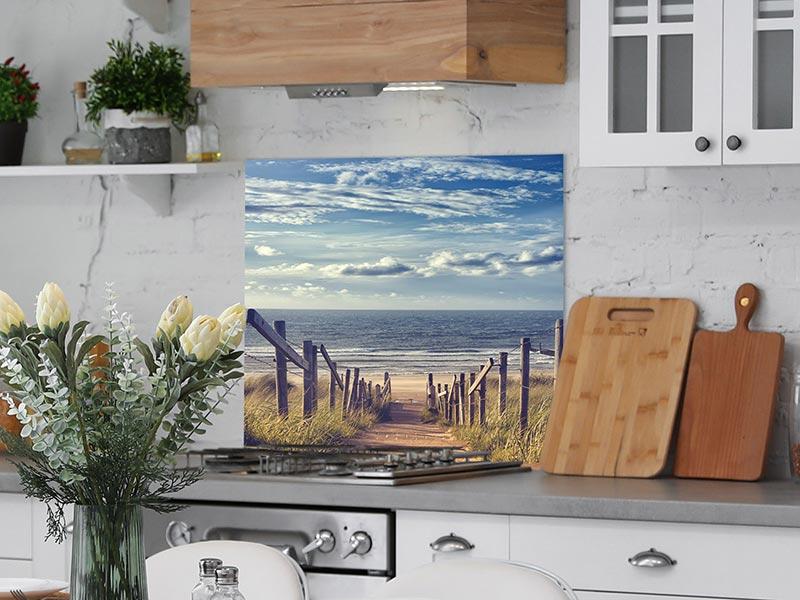 Spritzschutz Glas | Motiv Nordsee | 60x60 cm | wall2art